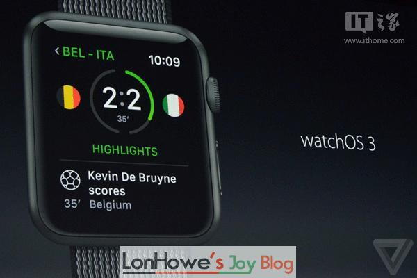苹果watchOS 3发布:应用启动速度飙升7倍,支持中文手写输入-LonHowe Blog