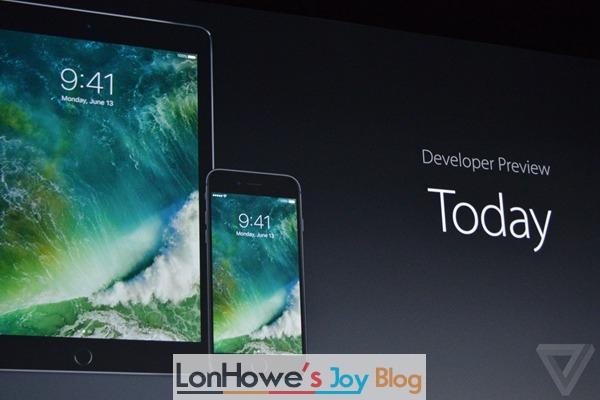 十大体验升级:苹果iOS10开发者预览版Beta1固件下载大全-LonHowe Blog