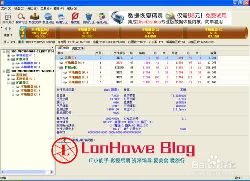巧用国产硬盘修复软件DiskGenius检测硬盘-LonHowe Blog