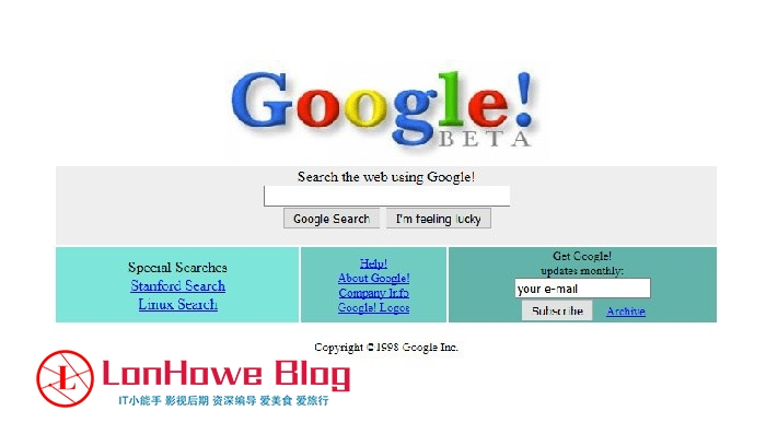 二十年前的互联网长啥样?回味互联网的青葱岁月-LonHowe Blog
